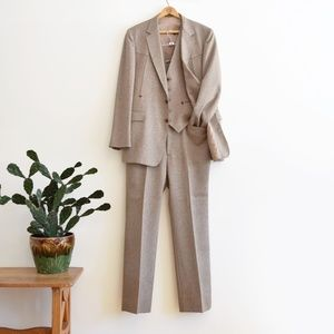 VTG Western Suit 43L (Pants 38x33.5) Tall Taupe